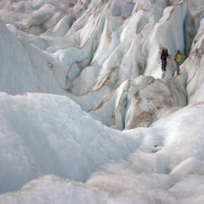 Exploring Glaciar Torre in Parque Nacional Los Glaciares, Patagonia, Argentina.